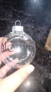 Personalized Glass Xmas balls. Can be filled with hot coco etc Peterborough Peterborough Area image 5