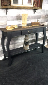 Handcrafted entry / sofa tables new