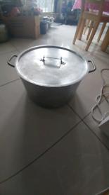 Aluminium commercial big sauce pan