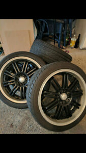 Maxxim rims 5x114.3 w/ nearly new tires (225/40/R18)