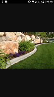 Decorative concrete landscape borders
