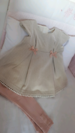 Baby Girl 9-12 months dress and leggings