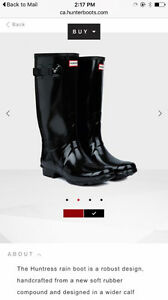 Hunter boots! Size 9