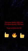Compte spotify et Netflix