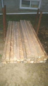 "(32) 3""x3""x8' Softwood Lengths"