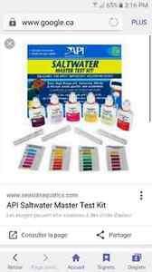 Test d'eau salée