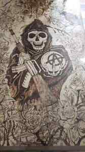 Son of anarchy art table Gatineau Ottawa / Gatineau Area image 1