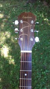 Guitare acoustique Épiphone FR-100 années 70s