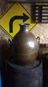 "Copper pot 30 lbs 24"" tall"