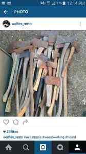 Axes hatchet woodworking antique tool
