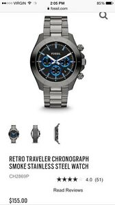 MENS STAINLESS STEEL FOSSIL WATCH FOR SALE