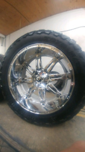 24x11 r24 FUEL Hostages with 37x13.5 Toyo Open Country Mts
