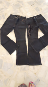 2 jeans Harley Davidson pour femmes taille 8