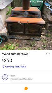 Looking for expired wood burning stove