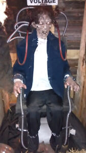 Life Size Halloween Haunted House Electric Chair Prop