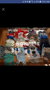 Boys size 3-6 month lot $15