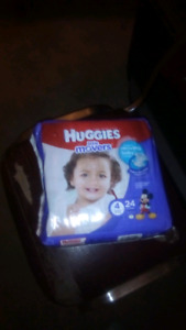 Huggies little movers size 4 diapers