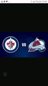 Jets vs. Avalanche - Lower Bowl Seats - Feb..3