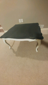 Vintage coffee table chalk painted and distressed.