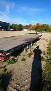 24 foot flat bed trailer for sale.