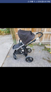 GUC britax affinity stroller with bassinet and accessories