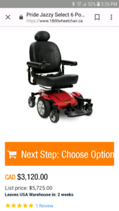 Jazzy select power chair