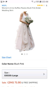 Chiffon skirt for wedding/ formal wear