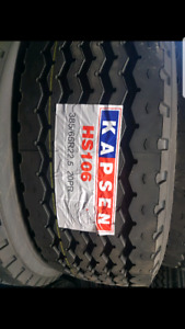 NEW TIRES 11R24.5 16PLY OPEN AND CLOSED SHOULDERS