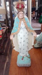 2 statue en plâtre de Marie et Jésus