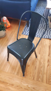 4 METAL chairs--  NEW