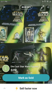 Die cast Star Wars Figures