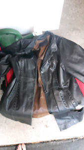 Ripped leather jacket