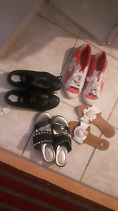 ladies shoes..sandal..DC runners..and black Dr. scholls