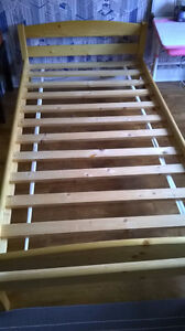 Pine twin bed frame