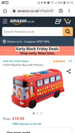 Vtech Playtime Bus Teaches Alphabet, Phonics, Numbers and Shapes