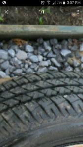 205 65 15 tires already mounted on rims