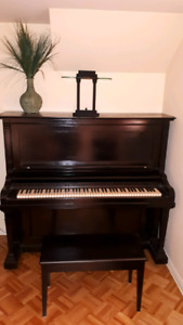 VINTAGE HENRY F. MILLER UPRIGHT PIANO, PRICED FOR  QUICK SALE