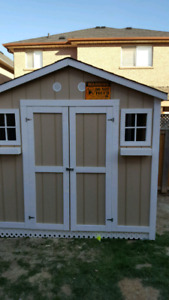 6x8 solid shed quick sale