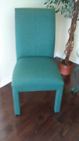 4 GREEN DINING CHAIRS