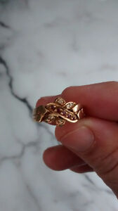 18KT yellow gold 4 pieces puzzle ring