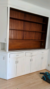 Kitchen cabinet & shelving unit built in