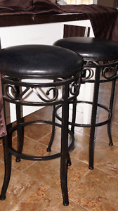 2 Beautiful Sterdy Stools - Black in color