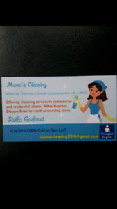 Cleaning lady femme de menage commercial & Residential