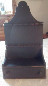 Vintage Wall Shelf With Drawer