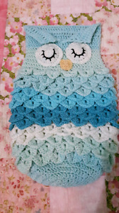 Crochet baby owl sleep sacks