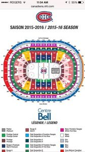Montreal Canadiens Tickets At Cost $207 For The Pair