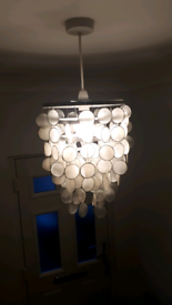 Easy fit capiz shell lampshade