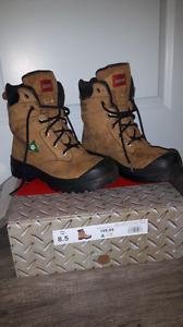 Steel toed boots  size 8.5 - woman