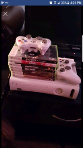 Xbox 360 w/ games and 2 controllers