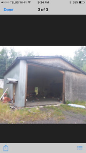 Free Insulated shop 26 x 35' south of Grande Prarie